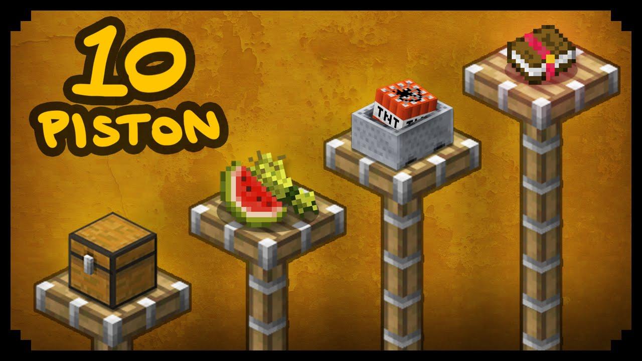 ✔ Minecraft: 11 Ways to Use Pistons