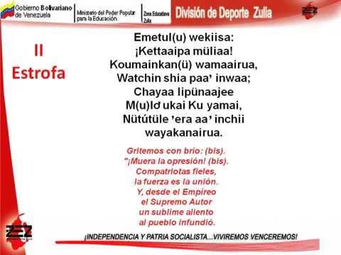 himno nacional venezuela wayuu
