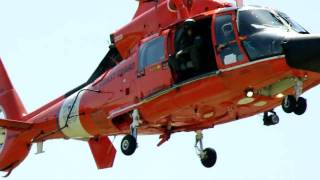 US Coast Guard Chopper Departs School