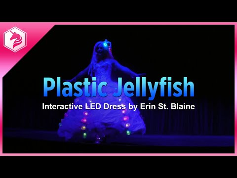 LED Plastic Jellyfish Dress - Recycled Fashion With A Cause @adafruit #adafruit
