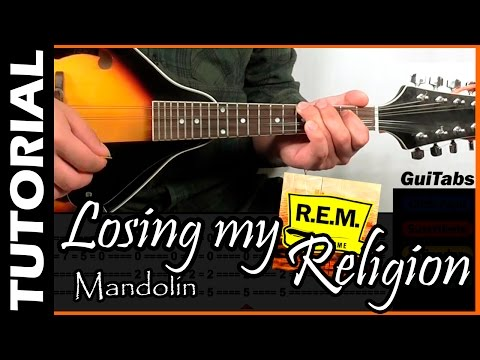 How To Play Losing My Religion (Intro, Riff) ✝ - R.E.M. / GuiTabs Mandolin Tutorial 🎻