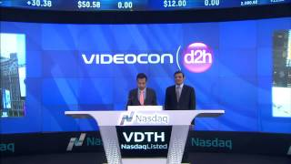 bell ringing ceremony of videocon d2h getting listed on nasdaq as the most valued indian company