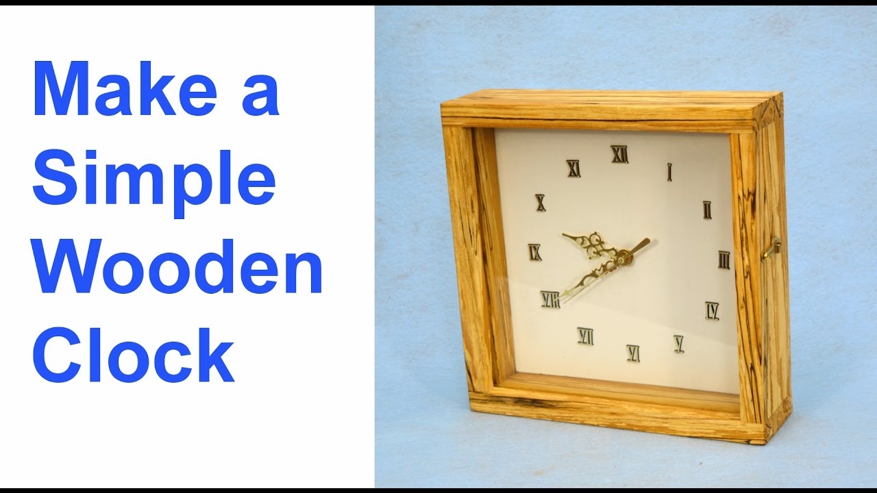 How to Make a Simple wooden Clock