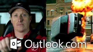 Outlook.com - Werbung: Briefträger zum Stuntman (Email neu erfunden - 60s - HD)