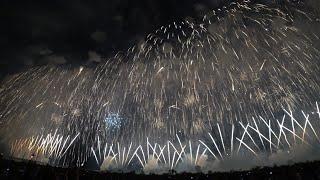 """【圧巻】復興祈願花火 フェニックス2018 """"フェニックス席"""" 長岡花火2日目 Nagaoka Fireworks Phoenix【4K】2018.8.3"""