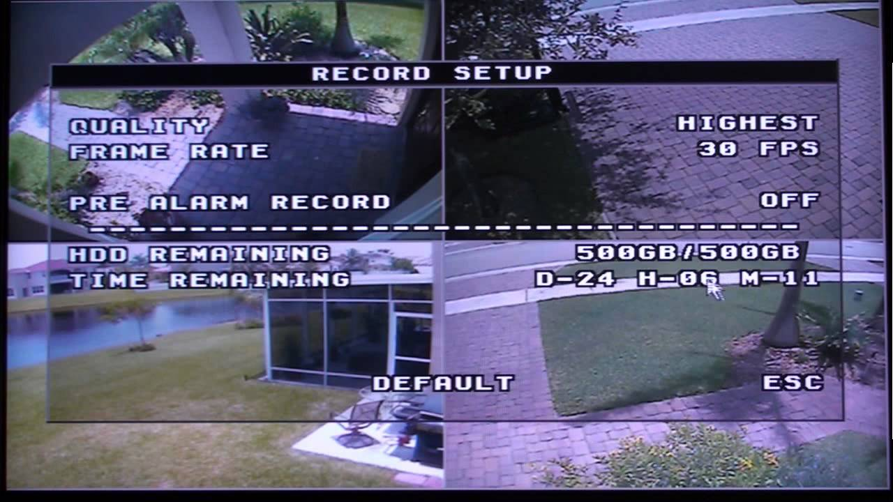 H 264 Surveillance DVR Setup