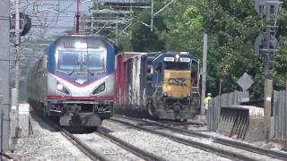 CSX, Amtrak & Keolis Action in Mansfield MA 7 (8/7/18)