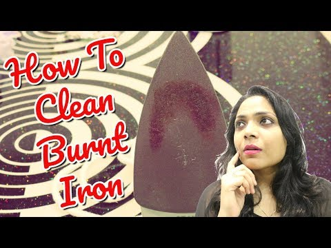 How To Clean Burnt Iron