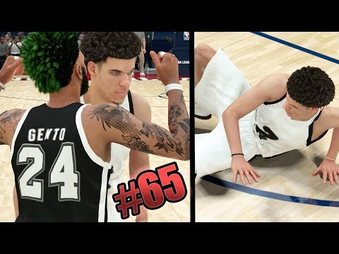 NBA 2k18 MyCAREER - 10x Ankle Breakers on Lonzo Ball in Rising Stars Challenge!! Ep. 65