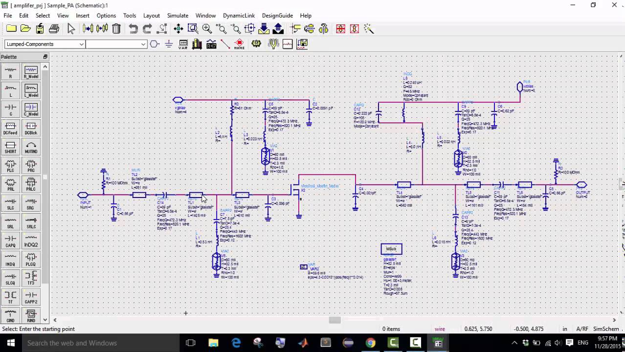 Rf Circuit Design Using Ads Tutorial Wiring Diagrams Basic Crystal Filter Diagram Tradeoficcom Simple Of Amplifier Youtube Rh Com Electronics Theory Power Schematic