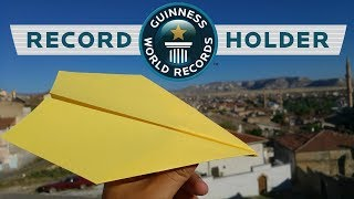 How To Make World Record Paper Airplane !!!