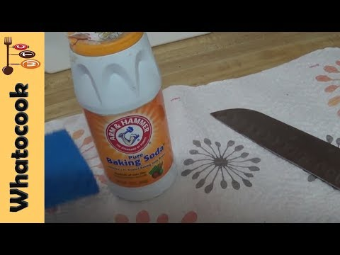 How To Clean Kitchen Knives With Baking Soda🗡