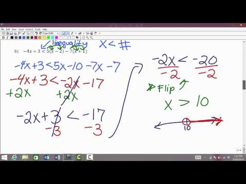 MATH 0310: Review of solving linear inequalities and Introduction to interval notation