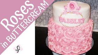 Buttercream ROSES/Swirls!! Plus a QUICK fondant rose!!