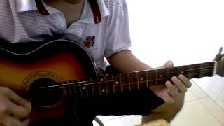 Song tấu Guitar - Tranh: Đoản Khúc Lam Giang
