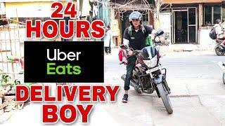 | SPEND 24 HOURS AS A UBER EATS FOOD DELIVERY BOY - SPEND ONE DAY AS UBER EATS FOOD DELIVERY BOY |