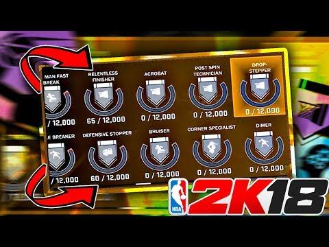 How To Unlock ALL BADGES In NBA 2K18! Badge Progress BAR, ALL NEW HOF BADGES!?!