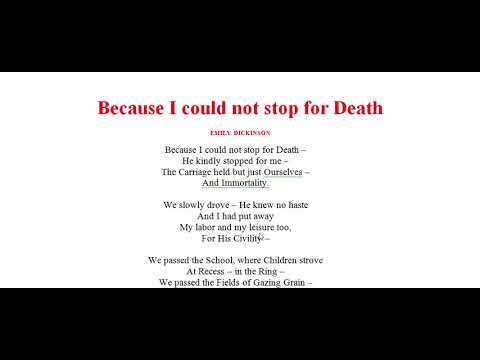 Because I Could not Stop for Death by Emily Dickinson | Poetry, Poem,  Literature, Kobita, Sahitto
