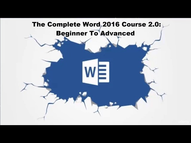 The Complete Microsoft Word 2016 Course
