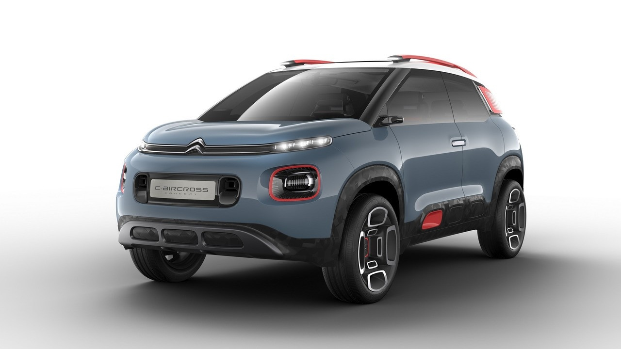 2018 Citroen C-Aircross Concept Compact SUV Revealed - YouTube