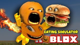 Roblox: EATING SIMULATOR! 🍊 💨🔥 🍔 [Annoying Orange Farty Party]