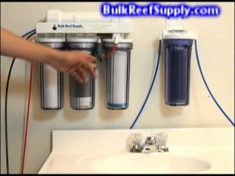 5 Stage Reverse Osmosis Chloramines System Demo - Bulk Reef Supply