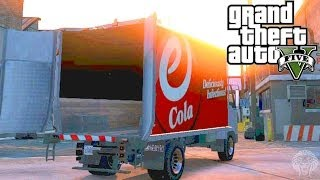 GTA 5 Online: How To Open The Back Doors Of A Truck! Transport Players & Vehicles (GTA V Online)