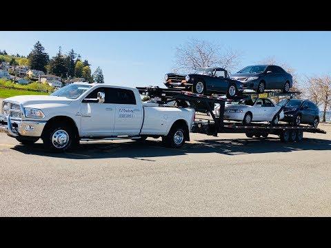 Работа на пикап траке в Америке «Неделя на новом траке»Вскрываем машину !!!