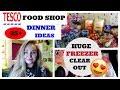 TESCO FOOD SHOP / FREEZER MEALS PREP / LARGE FAMILY DINNER IDEAS / BATCH COOKING