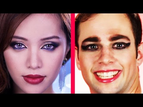 Guys Try Makeup Tutorials & It's Awesome