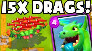 Clash Royale 15 BABY DRAGONS! Funny / Weird Epic Card Troll Deck Challenge (Gameplay Strategy)