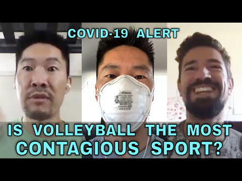 IS VOLLEYBALL THE MOST CONTAGIOUS SPORT FOR COVID-19?