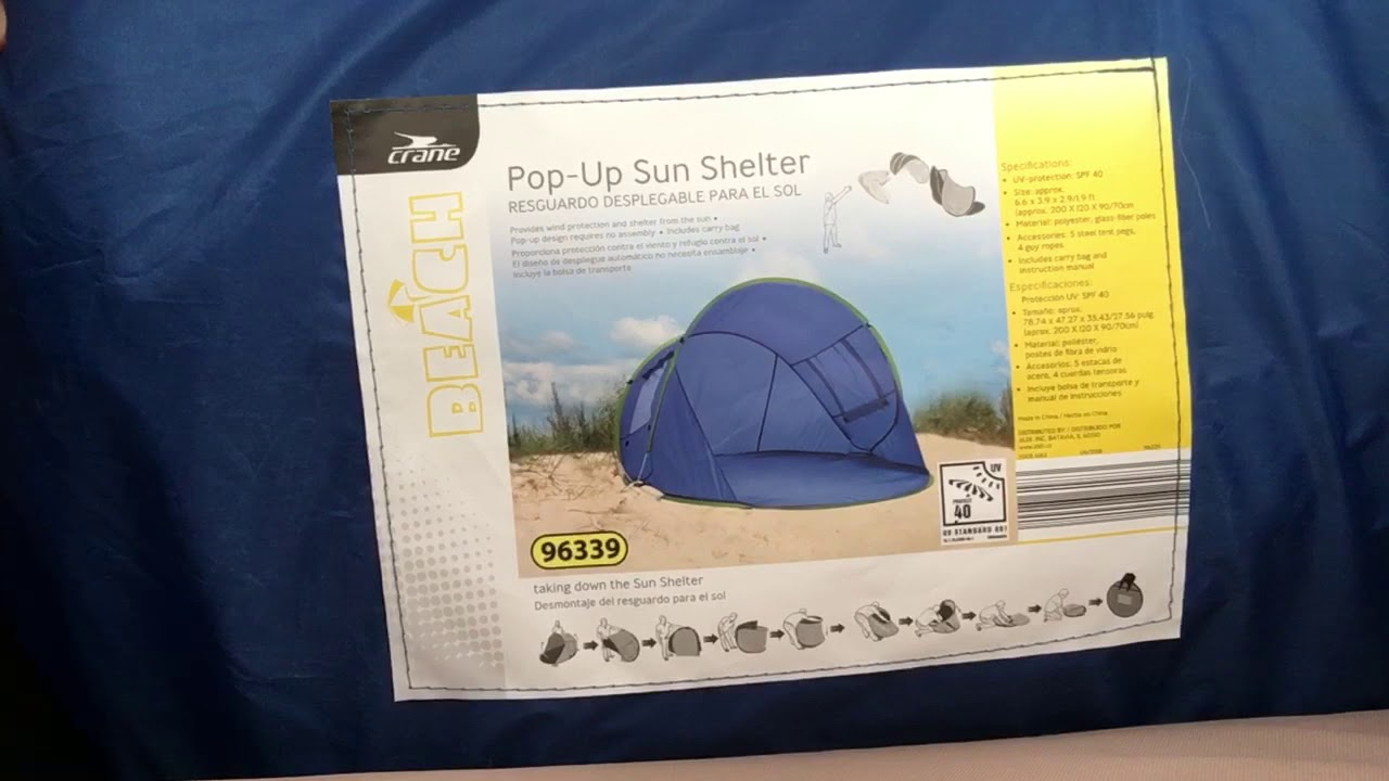 Aldi Pop Up Sun Shelter How To Youtube
