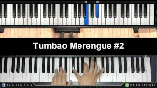TUMBAO  MERENGUE #2| PIANO TUTORIAL| Patron de merengue