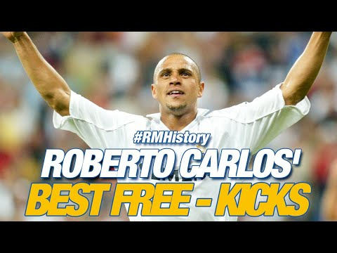 Real Madrid Roberto Carlos Best Free Kicks Youtube