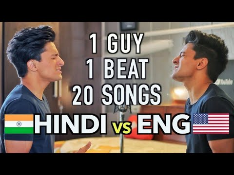 ENGLISH v/s HINDI Songs (Mashup by Aksh Baghla)