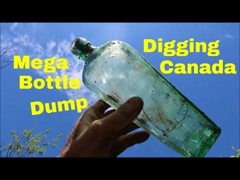 Digging A Huge Old Town Bottle Dump In Canada | Aquachigger