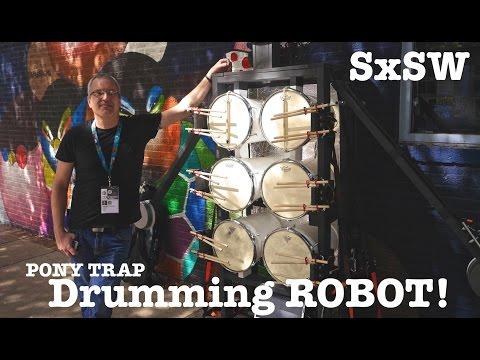 Robot Street Drummer- that reads music! At SxSW