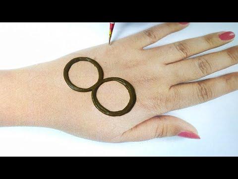 8 नंबर से मेहँदी लगाना सीखे - Style Mehndi Design on Hands - Mothers Day