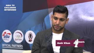Aiba World Boxing Championships Doha 2015 - Amir Khan Interview
