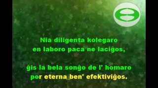 esperanto songs / kantoj en esperanto - Shaozhong Liu - Pragmatics  语用学