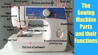 Sewing Machine Parts and their Functions.