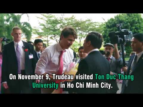Canadian PM Justin Trudeau's activities in Vietnam ahead of APEC 2017