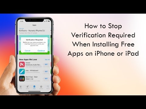 How to Stop Verification Required When Installing Free Apps in iOS 11