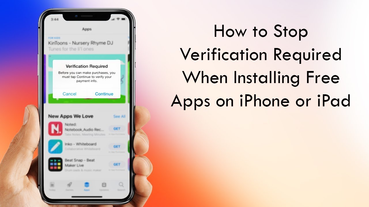 How to Stop Verification Required When Installing Free Apps in iOS 12 or  iOS 11