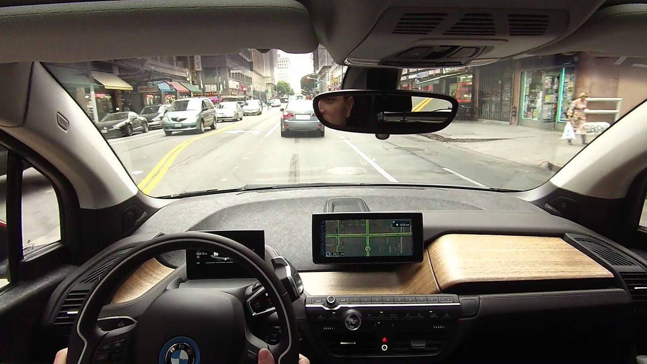 bmw i3 test drive at the la auto show youtube. Black Bedroom Furniture Sets. Home Design Ideas