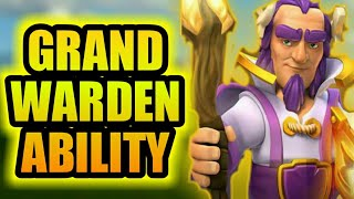 😍Secret ability of grand warden😘||grand warden||clash of clans||in hindi