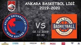 Gambar cover ABL l  Atılım Üniversitesi Spor Kulübü 53-72 Ataspor (02.12.2019, 22:30)