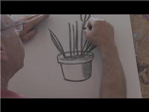 Drawing Basics : How to Draw Potted Plants - YouTube