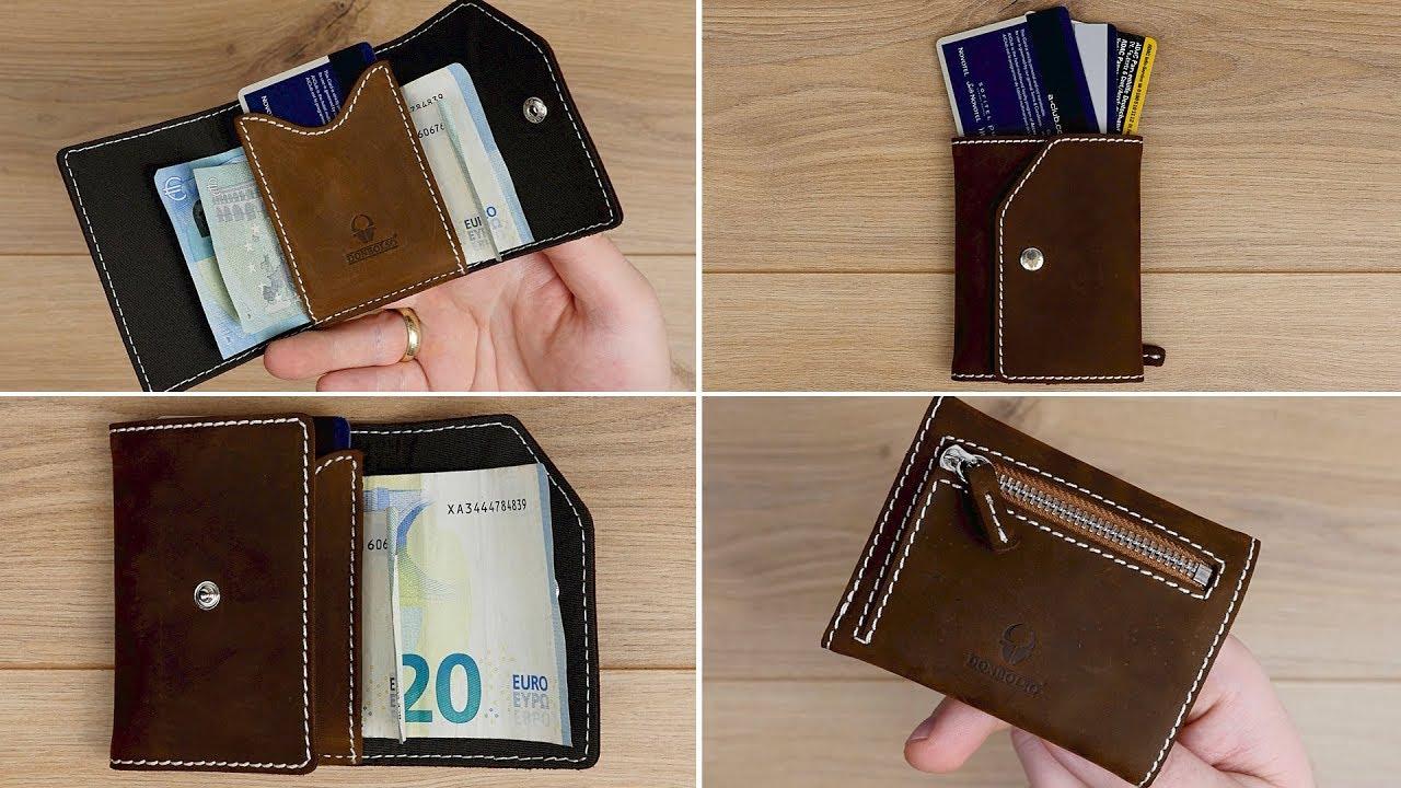 Platzwunder Echtleder Slim Wallet Mit Rfid Schutz Münzfach Von